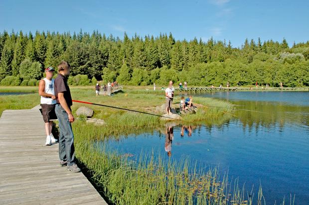 Pêche à l'étang de Bonnecombe